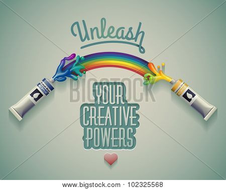 Unleash your creative powers. eps10 vector