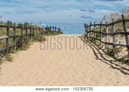 Wide Open Beach Pathway at Sandbridge