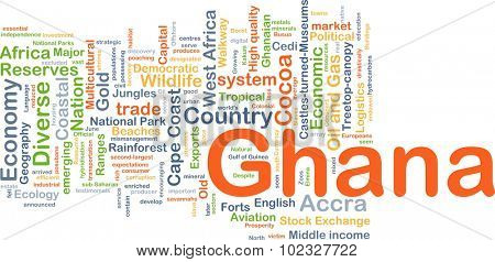 Background concept wordcloud illustration of Ghana