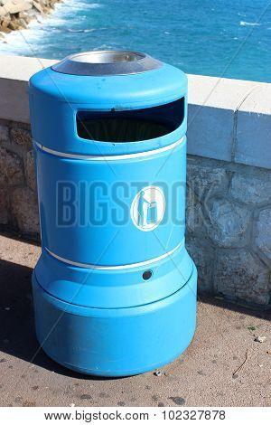 Blue Plastic Bin