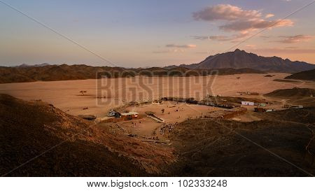 Bedouin Camp At Sunset