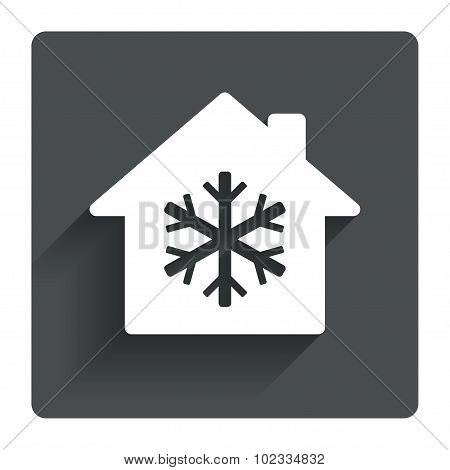 Air conditioning indoors icon. Snowflake sign.