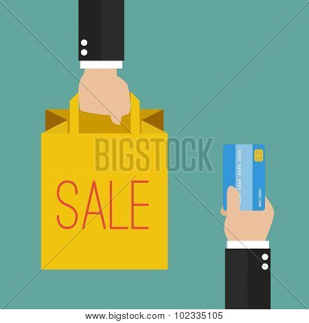 Credit Card  For Shopping Bag