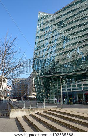 Buildings Near Ufa-crystal Palace, Dresden, Saxony, Germany.