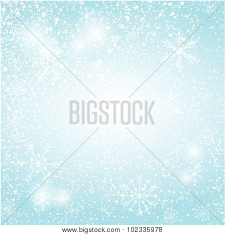 Abstract blue christmas  card. Christmas Snowflake on abstract background. Christmas card design. Christmas poster, t-shirt or web design with snowflake