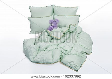 Down Pillows And Blanket