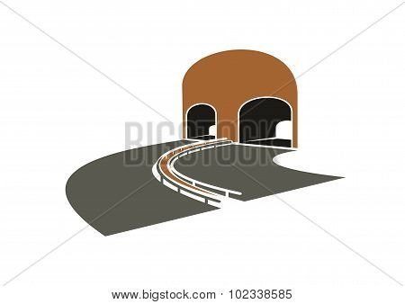 Highway lane turns to a tunnel
