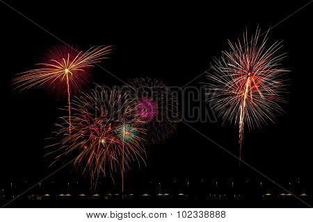 Multi-colored Firework Show