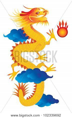 Chinese New Year Dragon Illustration