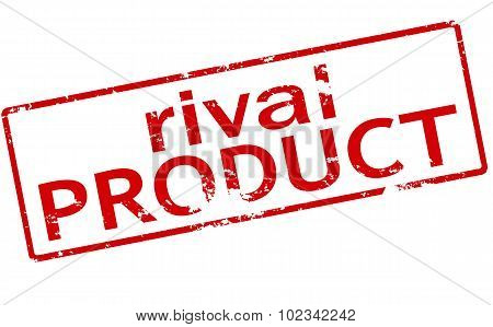 Rubber stamp with text rival product inside vector illustration