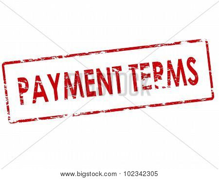 Rubber stamp with text payment terms inside vector illustration