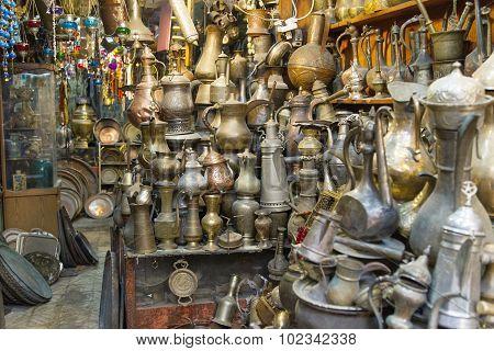 Souvenirs Shop In Arab Quarter .