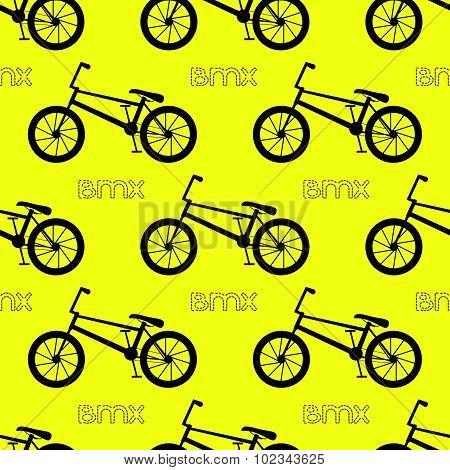 Seamless bicycle pattern.  BMX bike. Vector illustration