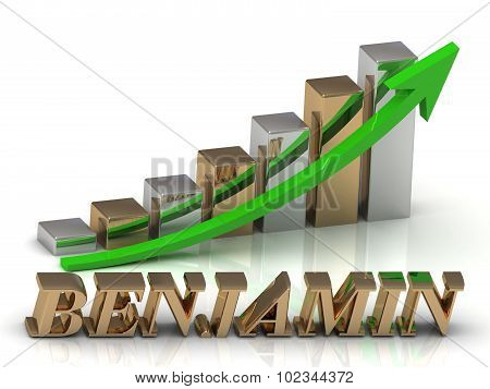 Benjamin- Inscription Of Gold Letters And Graphic Growth