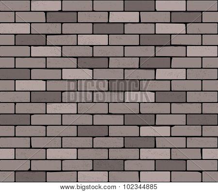Seamless Brick Wall. Vector Background