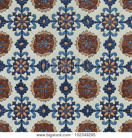 Middle eastern vintage tile pattern.