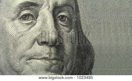Portrait Of Benjamin Franklin With Copyspase