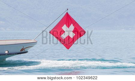 Ship With Swiss Flag