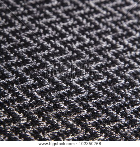 black and white herringbone fabric