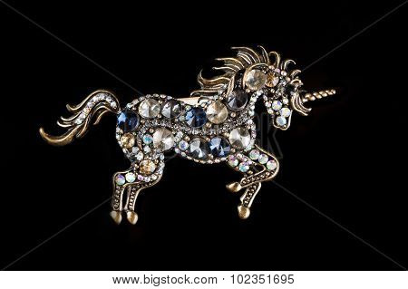 brooch in the form of a unicorn