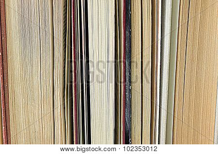 A Stack Of Old Books Close Up