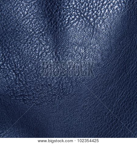 blue artificial leather