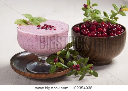 Smoothie With Cranberries And Yogurt