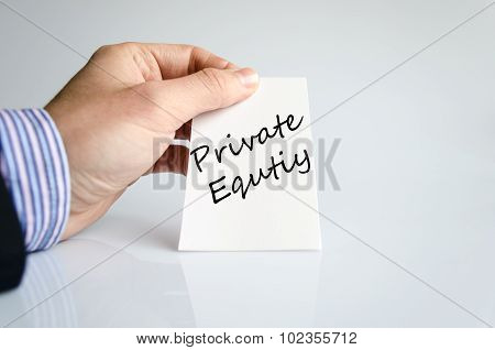 Private Equity Text Concept
