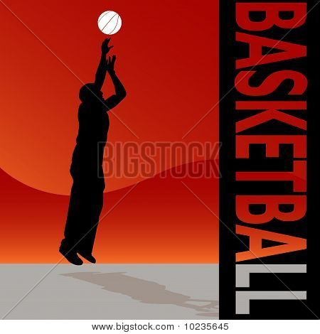 Basketball Man Tossing Ball