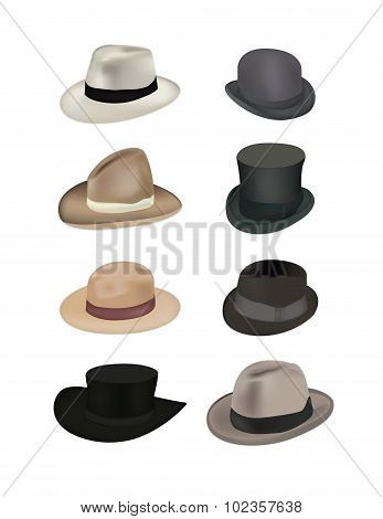 Hats Vector Illustration