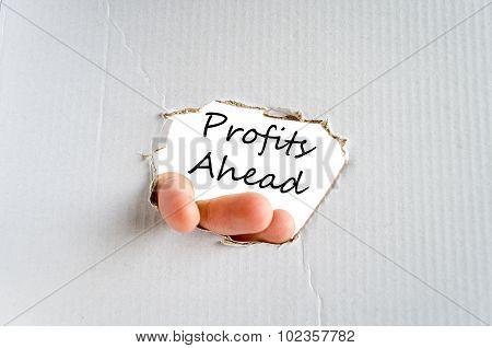 Profits Ahead Text Concept