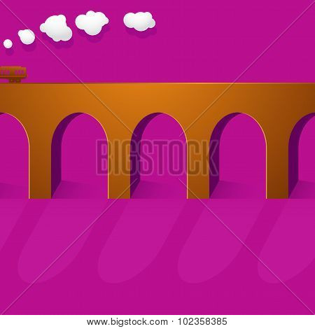 Stone bridge viaduct