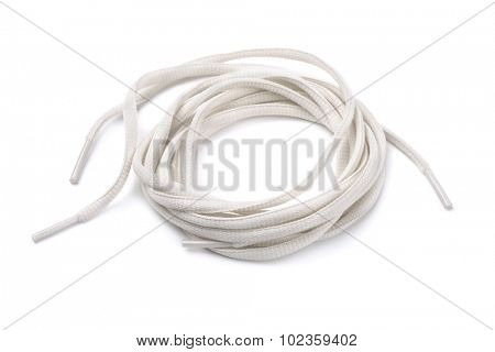 Rolled shoelaces isolated on white