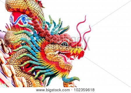 Colorful Image Of Chiness Dragon Head