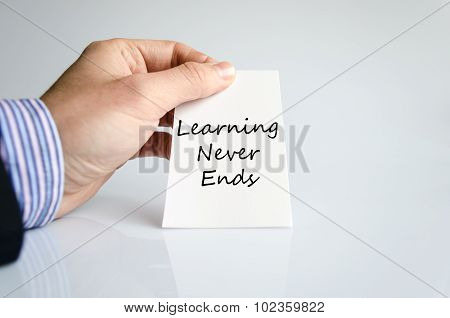 Learning Never Ends Text Concept