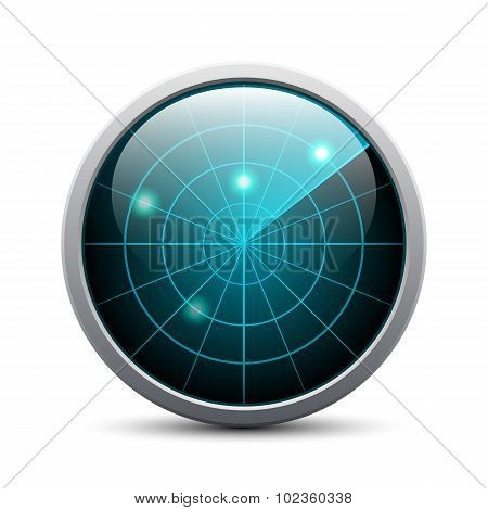 Vector Radar Icon On White Background