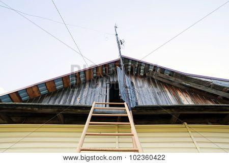 sharp roof top