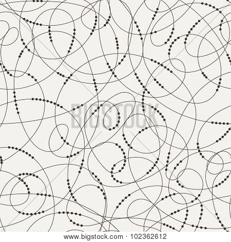Seamless pattern of contrasting swirling lines