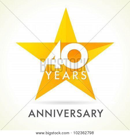 40 anniversary star logo