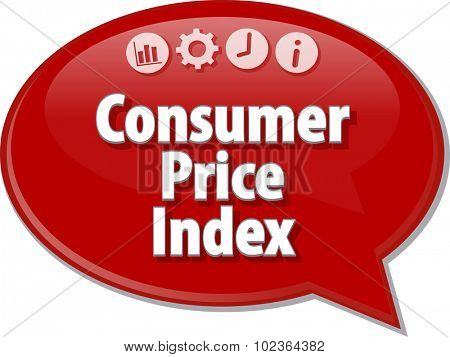 Blank business strategy concept infographic diagram illustration Consumer Price Index