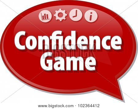 Blank business strategy concept infographic diagram illustration Confidence Game