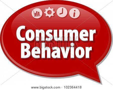 Blank business strategy concept infographic diagram illustration Consumer Behavior