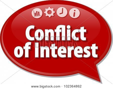 Blank business strategy concept infographic diagram illustration Conflict of Interest