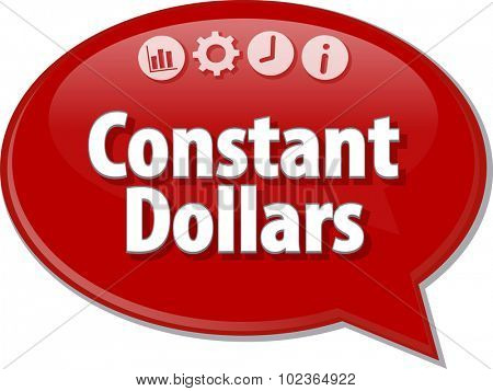 Blank business strategy concept infographic diagram illustration Constant Dollars