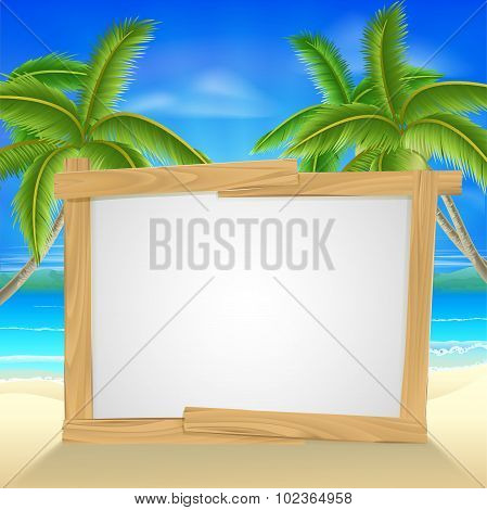 Beach Holiday Palm Tree Sign
