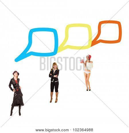 Speech Bubbles Negotiations Idea