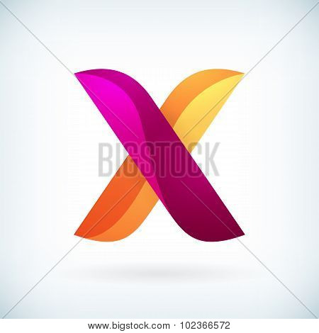 Modern Twisted Letter X