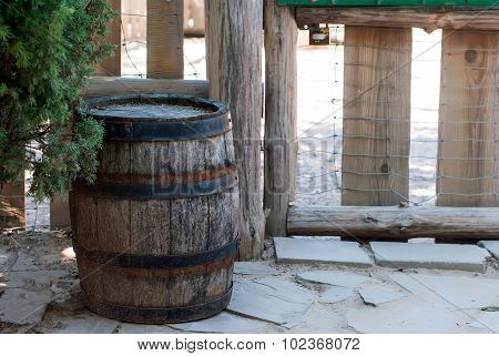 Old Wooden Barrels For Decoration