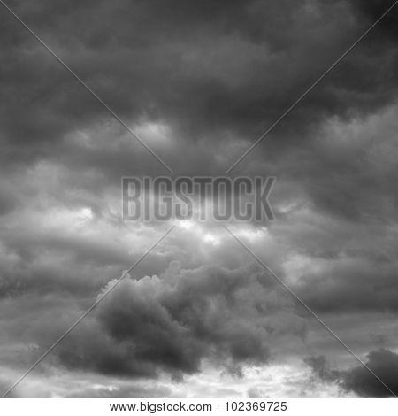 Rain cloudy sky.
