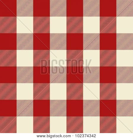 Retro red checkered seamless pattern